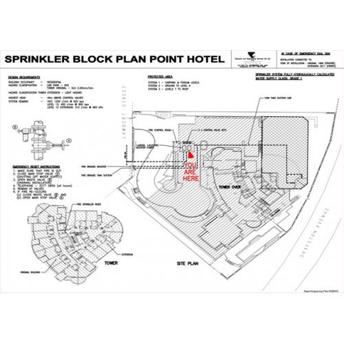 Home Fire Sprinkler System Design: Hydrant / Sprinkler Block Plans
